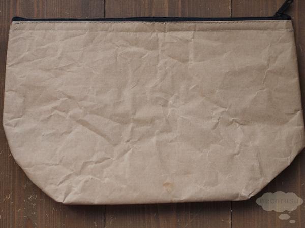 セリアの猫柄クラフトランチバッグ、クラッチタイプの裏側