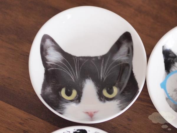 豆皿 猫 フォト