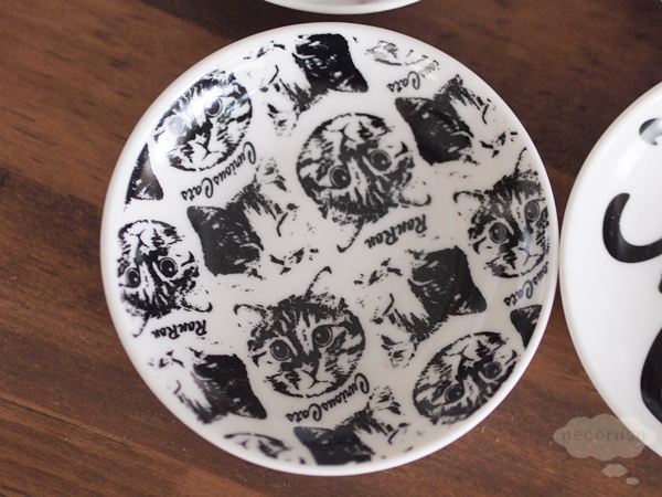豆皿 猫 黒白 B柄