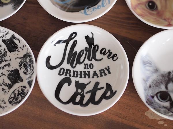 豆皿 猫 黒白 B柄 猫のシルエット