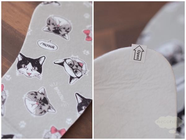 ダイソーの猫便座カバー