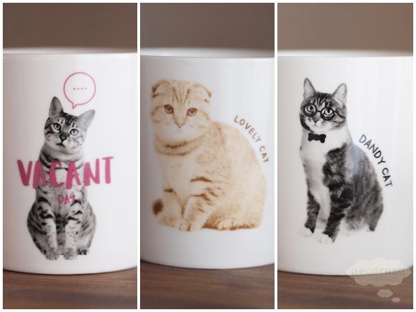 ダイソーの猫マグカップのイラスト