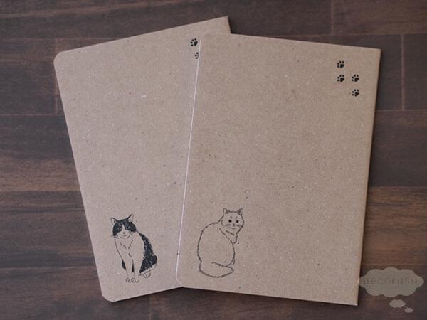 ダイソーの猫パスポートメモ
