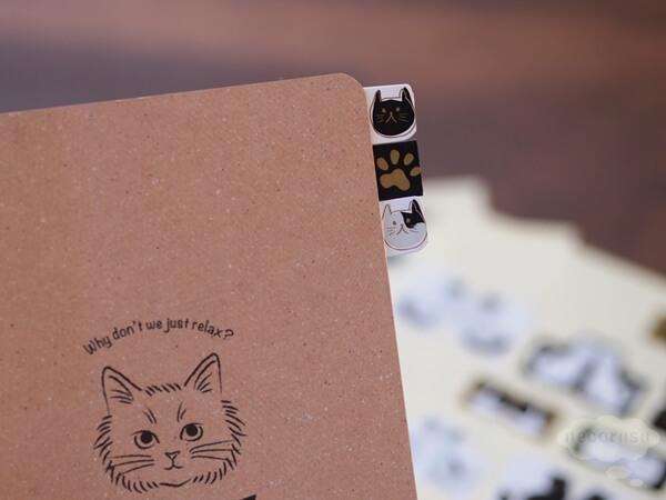 ダイソーの猫インデックス