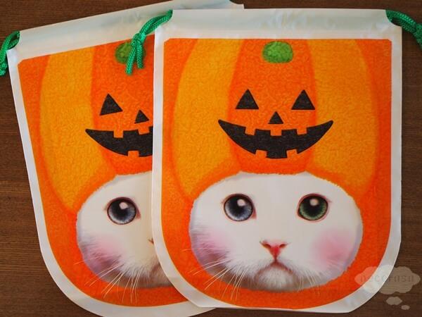 セリアの猫顔お菓子袋