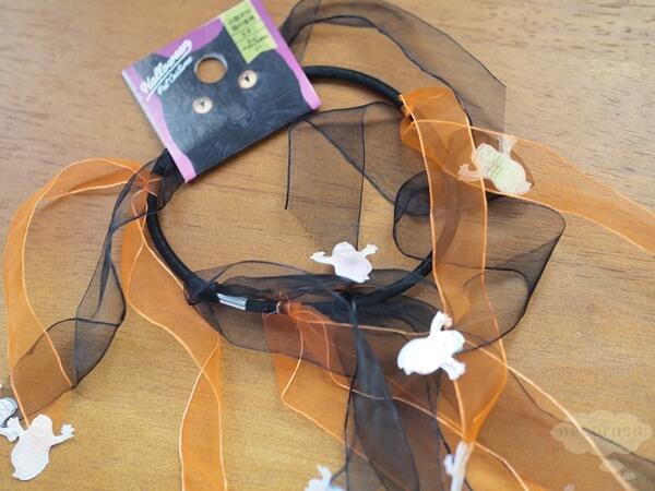 セリアのハロウィン猫首輪