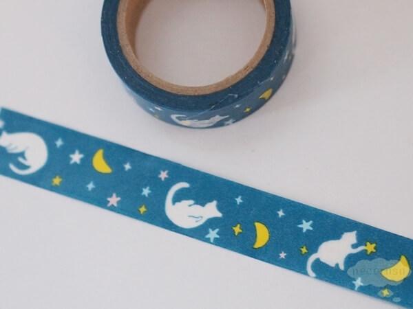 セリアのマスキングテープ 猫&月