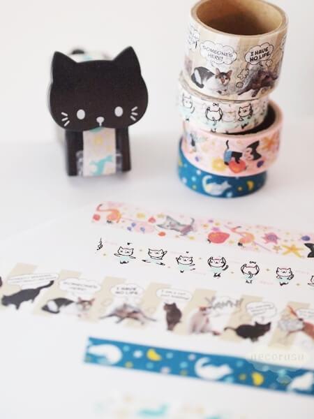 猫柄マスキングテープ