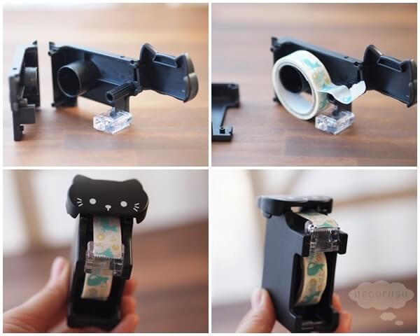 セリアのネコ型マスキングテープカッター