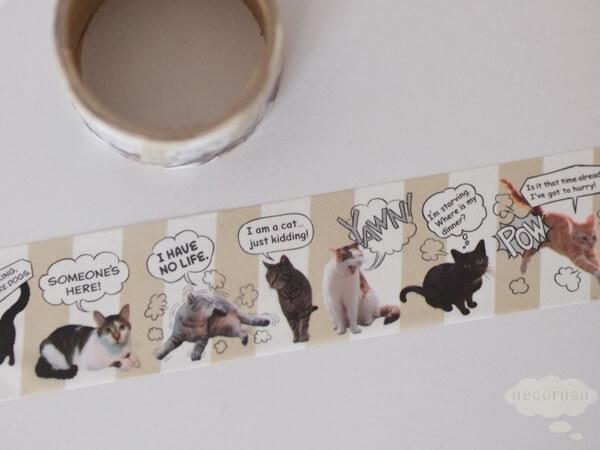 セリアのマスキングテープ「ネコ」