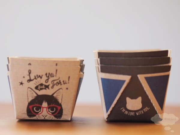 セリアのキューブマフィンカップ