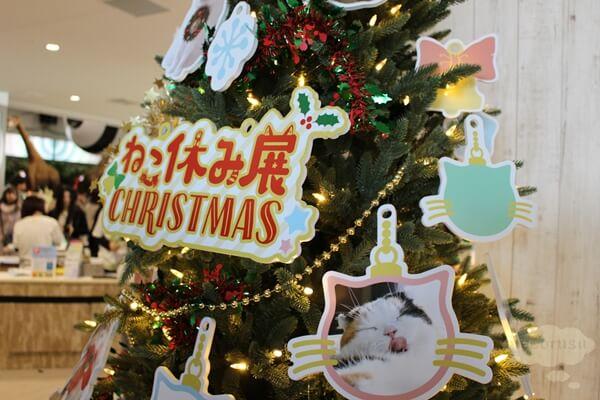 ねこ休み展in横浜みなとみらいのクリスマスツリー