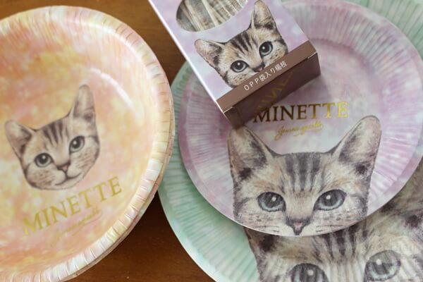 キャンドゥ100円猫グッズの紙のお皿