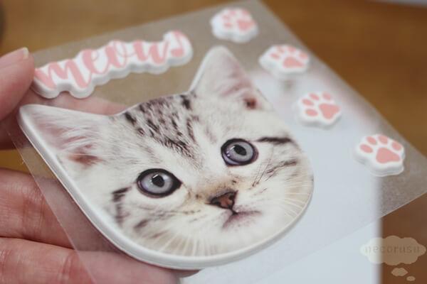 キャンドゥの猫立体シール