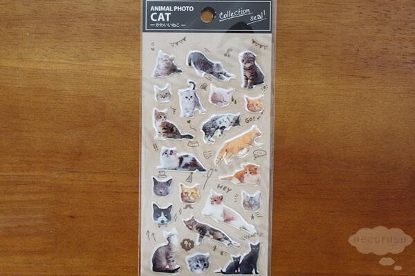 キャンドゥの猫シール