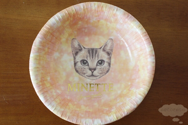 キャンドゥ100円猫グッズの紙のボウルタイプのお皿