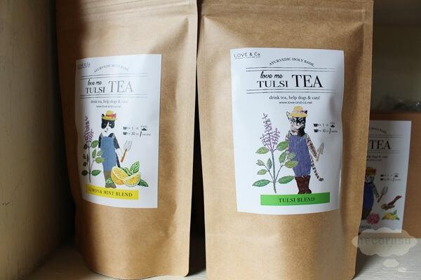 保護猫紅茶ラベル