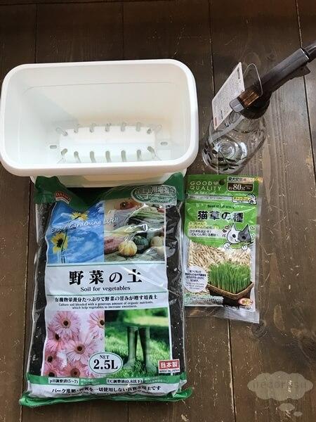 100円ショップで買える猫草の種