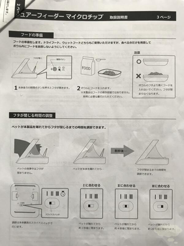 シュアーフィーダーの設定方法