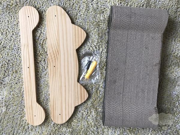 iOCHOW猫用爪とぎの組み立て材料