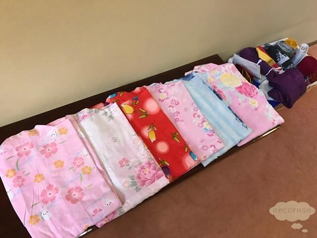 箱根仙石原、猫のいる温泉旅館みたけの浴衣