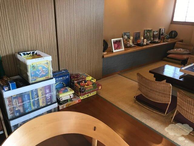 箱根仙石原、猫のいる温泉旅館みたけ、ボードゲーム